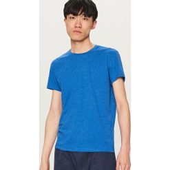 Melanżowy T-shirt BASIC - Niebieski. Niebieskie t-shirty męskie Reserved, m. Za 19,99 zł.