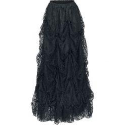 Sinister Gothic Long Medievel Skirt Spódnica czarny. Czarne długie spódnice Sinister, l, w koronkowe wzory, z koronki. Za 649,90 zł.