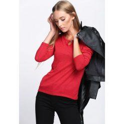 Swetry klasyczne damskie: Czerwony Sweter Vision Of Love