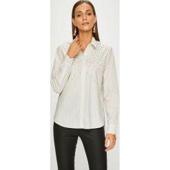Pepe Jeans - Koszula Aya. Szare koszule jeansowe damskie Pepe Jeans, l, w paski, casualowe, z klasycznym kołnierzykiem, z długim rękawem. W wyprzedaży za 269,90 zł.