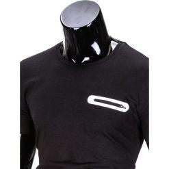T-SHIRT MĘSKI BEZ NADRUKU S824 - CZARNY. Czarne t-shirty męskie z nadrukiem Ombre Clothing, m. Za 29,00 zł.