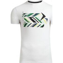 T-shirt męski TSM612 - biały - Outhorn. Białe t-shirty męskie Outhorn, na lato, m, z bawełny. W wyprzedaży za 29,99 zł.