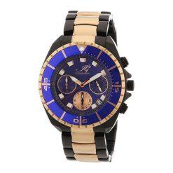 """Zegarki męskie: Zegarek """"IGSYRA.1.618465"""" w kolorze czarno-różowozłotym"""