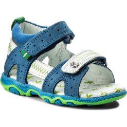 Sandały BARTEK - T-11824/1NR Niebiesko Biały. Białe sandały chłopięce Bartek, z nubiku. W wyprzedaży za 159,00 zł.
