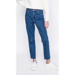 Wrangler - Jeansy Retro Dark. Szare jeansy damskie rurki marki Wrangler, na co dzień, m, z nadrukiem, casualowe, z okrągłym kołnierzem, mini, proste. W wyprzedaży za 209,90 zł.