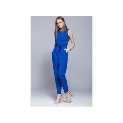 Kombinezony damskie: Elegancki kombinezon damski niebieski  H023