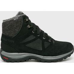 Salomon - Buty Ellipse Freez. Szare buty trekkingowe damskie marki Salomon, z gore-texu, na sznurówki, outdoorowe, gore-tex. Za 599,90 zł.