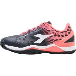 Buty sportowe damskie: Diadora SPEED BLUSHIELD 2 CLAY Obuwie do tenisa Outdoor black/fluo coral