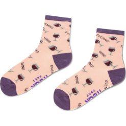 Skarpety Wysokie Damskie FREAK FEET - LKIE-FIB2 Różowy. Niebieskie skarpetki damskie marki Freak Feet, w kolorowe wzory, z bawełny. Za 19,99 zł.