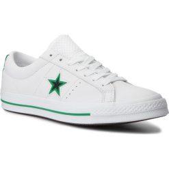 Tenisówki CONVERSE - One Star Ox 161589C White/Black/Converse Green. Białe tenisówki męskie Converse, z gumy. W wyprzedaży za 289,00 zł.