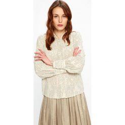 Vero Moda - Koszula Cate. Szare koszule wiązane damskie Vero Moda, l, z długim rękawem. W wyprzedaży za 79,90 zł.