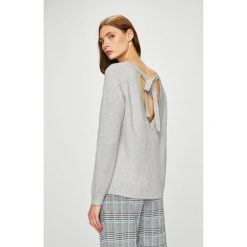 Vila - Sweter. Szare swetry klasyczne damskie Vila, l, z dzianiny, z okrągłym kołnierzem. W wyprzedaży za 99,90 zł.