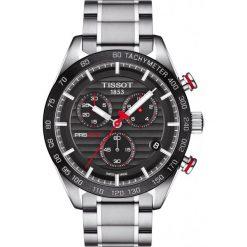 PROMOCJA ZEGAREK TISSOT T-Sport T100.417.11.051.01. Czarne zegarki męskie TISSOT, ze stali. W wyprzedaży za 2596,00 zł.