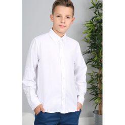 Biała Gładka Koszula NDZ3801. Białe koszule chłopięce marki Fasardi. Za 69,00 zł.