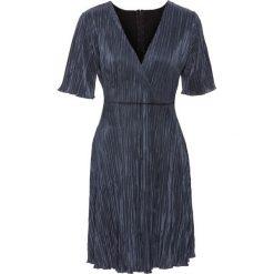 Sukienki: Sukienka plisowana bonprix srebrnoszary