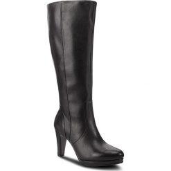 Kozaki GABOR - 95.709.27 Schwarz. Czarne buty zimowe damskie Gabor, z materiału. Za 759,00 zł.