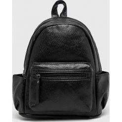 Answear - Plecak. Czarne plecaki damskie ANSWEAR, z materiału. W wyprzedaży za 49,90 zł.