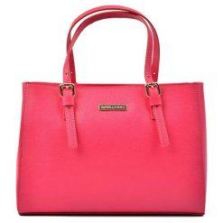 Torebki klasyczne damskie: Skórzana torebka w kolorze fuksji – (S)31 x (W)22 x (G)10 cm
