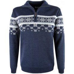 Kama Sweter Damski Merino 5007 M Ciemnoniebieski. Brązowe swetry klasyczne damskie Kama, m, z wełny, z dekoltem woda. Za 565,00 zł.
