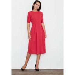 Czerwona Sukienka Elegancka Wizytowa Midi. Czarne sukienki balowe marki bonprix. Za 145,90 zł.