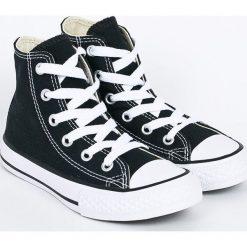 Converse - Trampki dziecięce. Szare buty sportowe dziewczęce Converse, z gumy, z okrągłym noskiem, na sznurówki. W wyprzedaży za 179,90 zł.