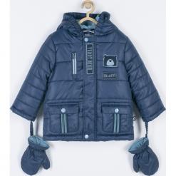 Kurtka. Niebieskie kurtki chłopięce przeciwdeszczowe GRIZZLY BEAR, z aplikacjami, z bawełny. Za 179,90 zł.