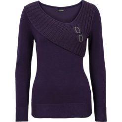 Sweter bonprix ciemny lila. Fioletowe swetry klasyczne damskie marki DOMYOS, l, z bawełny. Za 109,99 zł.