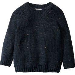 Swetry męskie: Sweter dzianinowy bonprix ciemnoniebieski melanż