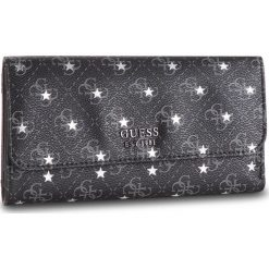 Duży Portfel Damski GUESS - SWSM71 79650 COA. Czarne portfele damskie marki Guess, z aplikacjami, ze skóry ekologicznej. Za 279,00 zł.