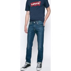 Levi's - Jeansy 511. Brązowe jeansy męskie relaxed fit Levi's®, z bawełny. W wyprzedaży za 299,90 zł.
