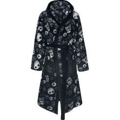 Miasteczko Halloween Classic Skull Szlafrok czarny/szary. Czarne szlafroki kimona damskie Miasteczko Halloween. Za 199,90 zł.