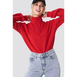 Bluzy damskie: NA-KD Bluza z suwakiem – Red