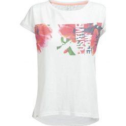T-shirt damski TSD612 - biały - Outhorn. Szare t-shirty damskie marki Outhorn, melanż, z bawełny. W wyprzedaży za 24,99 zł.