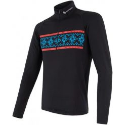 Sensor Bluza Męska Thermo Czarna Ze Wzorem M. Czarne bluzy męskie rozpinane marki Sensor, m, z nadrukiem, z długim rękawem, długie. Za 205,00 zł.