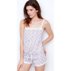 Etam - Top piżamowy. Niebieskie piżamy damskie marki Etam, l, z bawełny. W wyprzedaży za 34,90 zł.