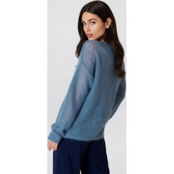 Swetry oversize damskie: Gestuz Sweter Molly – Blue