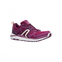 Buty do szybkiego marszu HW 500 damskie. Brązowe buty do fitnessu damskie marki NEWFEEL, z gumy. W wyprzedaży za 99,99 zł.