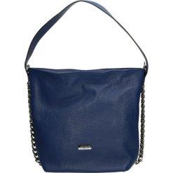 Torba - 4-226-O D BLU. Szare torebki klasyczne damskie marki Venezia, ze skóry. Za 399,00 zł.