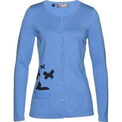 Sweter rozpinany bonprix błękitno-czarny. Szare kardigany damskie marki Mohito, l. Za 89,99 zł.