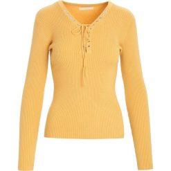 Żółty Sweter Somebody Told Me. Żółte swetry klasyczne damskie marki Mohito, l, z dzianiny. Za 44,99 zł.