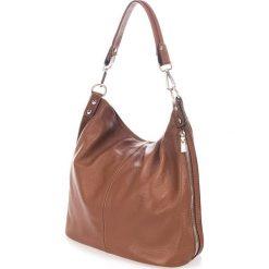 Torebki klasyczne damskie: Skórzana torebka w kolorze brązowym – 40 x 55 x 15 cm