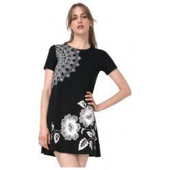 Desigual Sukienka Damska Maribel S Czarny. Szare sukienki marki Desigual, l, z tkaniny, casualowe, z długim rękawem. W wyprzedaży za 189,00 zł.