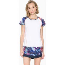 Bluzki sportowe damskie: Koszulka funkcyjna w kolorze białym