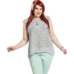 Ariel - Mała Syrenka Character Damask Koszulka damska biały/szary. Białe bluzki damskie Ariel - Mała Syrenka, m, z dekoltem w łódkę. Za 62,90 zł.