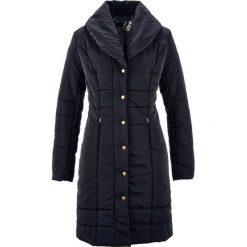 Płaszcz pikowany bonprix czarny. Czarne płaszcze damskie bonprix. Za 189,99 zł.