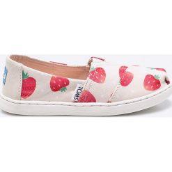 Toms - Tenisówki dziecięce Classic. Szare buty sportowe dziewczęce Toms, z gumy. Za 169,90 zł.