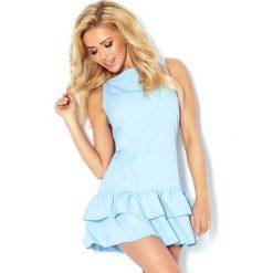 Sukienki: Camilla Sukienka z falbankami – BŁĘKITNA