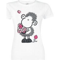 Sheepworld Blumenstrauß Koszulka damska biały. Białe bluzki damskie sheepworld, s, z nadrukiem, z bawełny, z okrągłym kołnierzem. Za 62,90 zł.