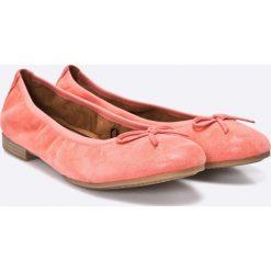 Tamaris - Baleriny. Różowe baleriny damskie Tamaris, z materiału. W wyprzedaży za 139,90 zł.
