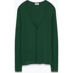 """Swetry rozpinane męskie: Kardigan """"Svenland"""" w kolorze zielonym"""
